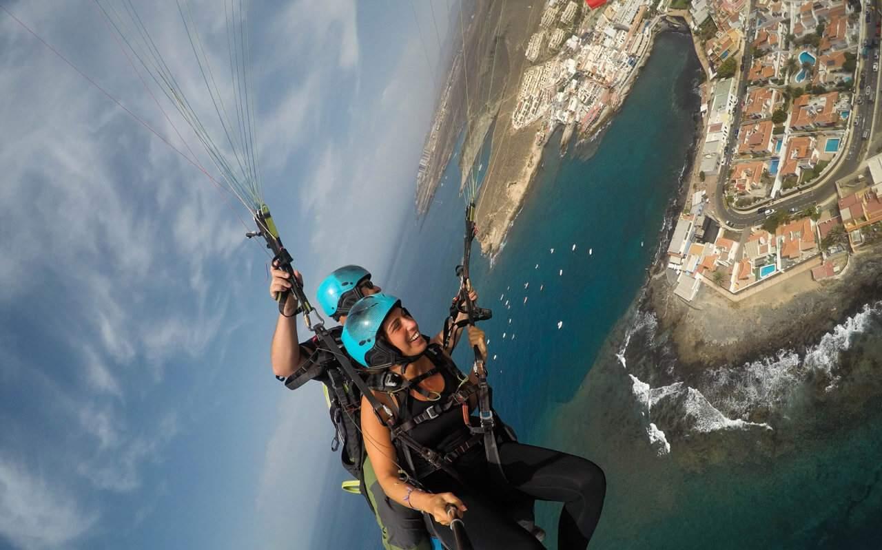▷ Acrobatic Paragliding Tandem Flight in Tenerife 🥇