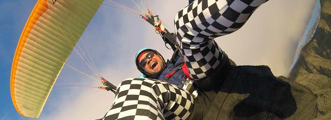 paragliding alone