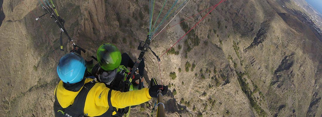 where to land a paraglider